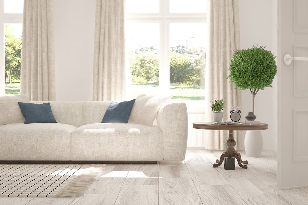 A well decorated living room. cleaning services in Davie FL
